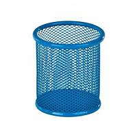 Підставка для ручок кругла 90х90х100мм, металева, синій