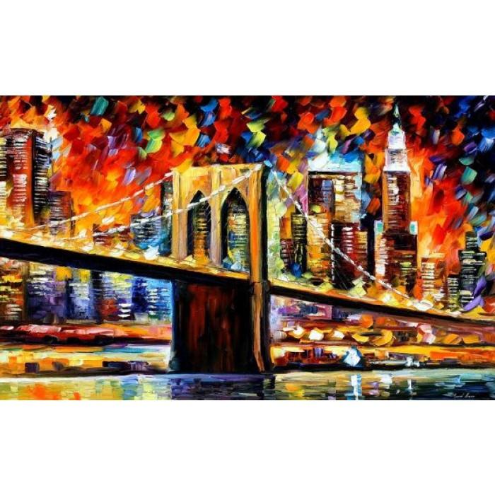 Картина по номерам Бруклинский мост без коробки