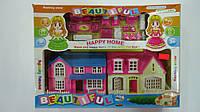 """Игровой домик для кукол  """"Happy Home"""" с мебелью,фигурками в коробке 330*230*60мм.Игрушечный домик для кукол  H"""