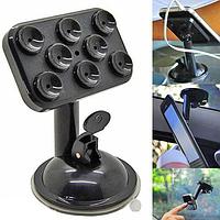 Держатель универсальный для телефона, GPS, мини-планшета на присосках, черный