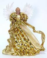 """Верхушка на ёлку """"Золотой ангел"""", новогодняя игрушка  40 см"""