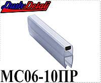 Магниты двери душевой кабины прямой ( MC06ПР ) , Стык магнитный, силиконовый. 10 мм