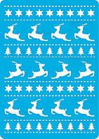 Трафарет - 178. «Рождественские олени»