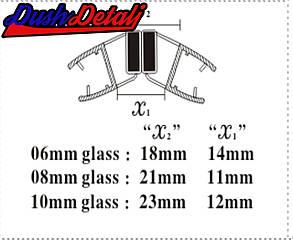 Магниты  для дверей душевой кабины 135 градусов  ( MС35 )  Стык магнитный, силиконовый., фото 2