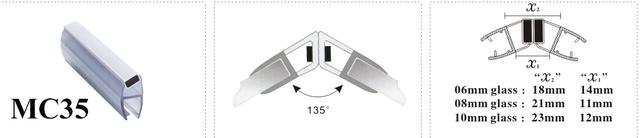 Магнит душевой кабины с углом 135 градусов