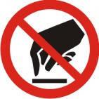 """Знак """"Забороняється торкатись. Небезпечно"""""""