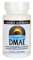 Дмаэ DMAE 351 мг 100 капс мощный антиоксидант США