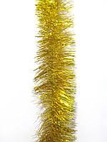 10 см диаметр Мишура дождик Золотой, Длина 3 метра