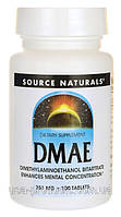 Дмаэ DMAE омоложение 351 мг 100 капс США