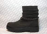 Ботинки женские стильные натуральная замша
