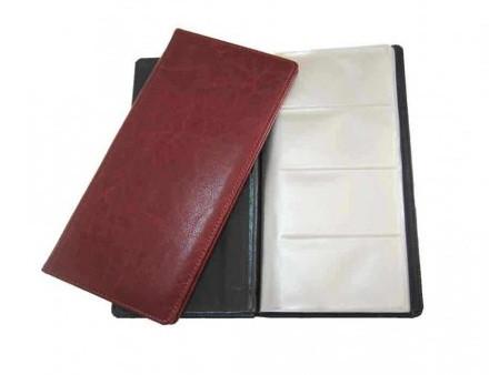 Візитниця Бріск 96 карти ВВ-5 Sarif червоно-коричневий