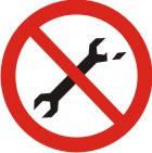 """Знак """"Забороняється користуватися несправним інструментом"""""""