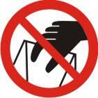 """Знак """"Запрещается брать руками. Сыпучая масса (непрочная упаковка)"""""""