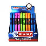 Ручка-тренажер для правшів кулькова масляна PIANO синя, фото 2