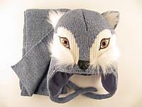 Шапка зимняя с шарфом для мальчика Amal