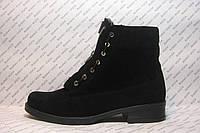 Ботинки женские зимние натуральная замша