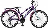 Немецкий Двухколесный велосипед Puky Skyride 24-21 Alu light 4869 turquoise/lilac бирюзовый/лиловый