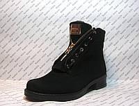 Ботинки женские зимние нубук