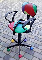 Кресло детское парикмахерское цветное. (Украина)