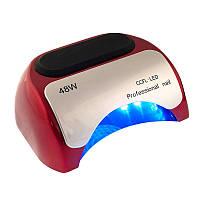 LED + CCFL лампа профессиональная на 48 вт, для гель-лаков и для геля с таймером