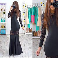 Коктейльное женское платье макси