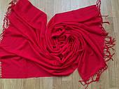 Шарф палантин 189х76 см красный алый