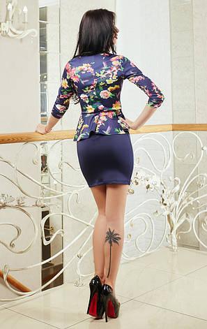 Молодежное платье с баской, фото 2