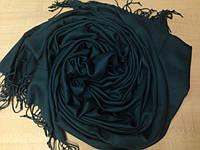 Шарф палантин 189х76 см темный синий индиго