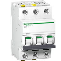 Автоматический выключатель  Schneider Electric,  Acti9  IC60N, 6кА,  тип В, 50А, трёхполюсный