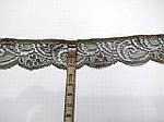 Кружево  стрейч серо-бежевое антик шелковое 3 см с переходом цвета  шелк , сток Англия  , фото 4