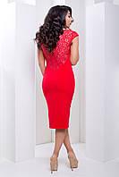 Праздничное Вечернее Нарядное Платье Красное р. 40-48