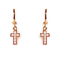 Xuping Серьги Gold крестикb [24/5мм]
