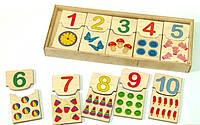 Деревянная игрушка Половинки Цифры