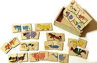Деревянная игрушка Половинки Домашние животные, фото 1