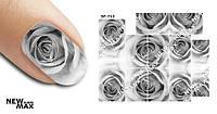 Слайдер дизайн (водная наклейка) для ногтей SF-712