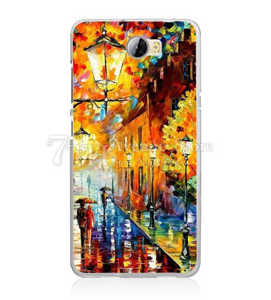 Силиконовый бампер чехол для Huawei Y5ii Y5 II с рисунком Прогулка
