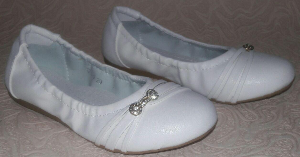 Туфли балетки белые на девочку 26, 28, 31