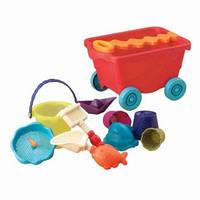 Набор для игры с песком и водой - ТЕЛЕЖКА ПОМИДОРЧИК (11 предметов)