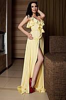 Женское платье в пол из шёлка