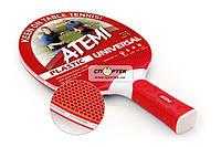 Ракетка настільного тенісу ATEMI Plastic Universal red