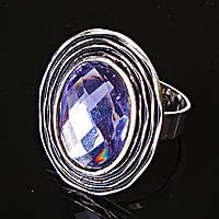 Кольцо без р-р  гнездо кристалл фиолетовый