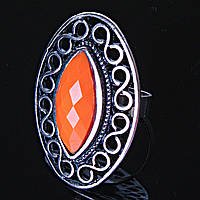 Кольцо без р-р  Глаз оранжевый самоцвет