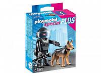 Конструктор Playmobil 5369 Полицейский спецназовец с собакой, фото 1