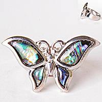 Кольцо без р-р  бабочка халиотис Перламутр
