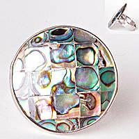 Кольцо без р-р  круг мозаика квадрат халиотис Перламутр