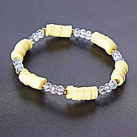 [16см] Браслет летний монетки сезон желтый