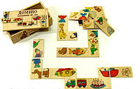 Деревянная игрушка Домино половинки, фото 1