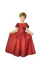 Платье детское праздничное нарядное новогоднее Лодочка красное