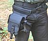 Тактическая набедренная сумка MFH 30701A черного цвета