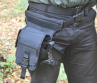 Тактична стегновий сумка MFH 30701A чорного кольору